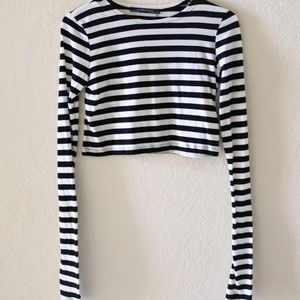 NWT ZARA STRIPED CROP TOP